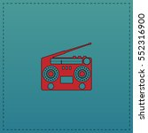 boombox red vector icon with... | Shutterstock .eps vector #552316900