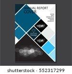 blue annual report brochure... | Shutterstock .eps vector #552317299