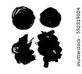 grunge hand drawn brush strokes.... | Shutterstock .eps vector #552319024
