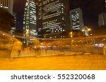 blurred light people walk on... | Shutterstock . vector #552320068