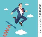 businessman jumping from... | Shutterstock .eps vector #552324880