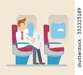passengers in economy class... | Shutterstock .eps vector #552325189
