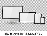 set of realistic computer... | Shutterstock .eps vector #552325486
