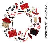 set of stylish women's... | Shutterstock .eps vector #552326164