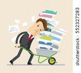unhappy businessman carries... | Shutterstock .eps vector #552327283