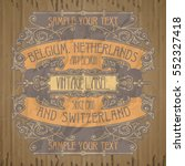 vector vintage items  label art ... | Shutterstock .eps vector #552327418