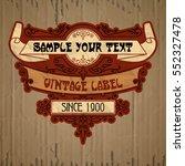 vector vintage items  label art ... | Shutterstock .eps vector #552327478