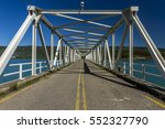 Small photo of The metallic road-bridge over the artificial lake of Kastraki, in Aetoloakarnania region, midland Greece. It is located a few kilometres away from the main city of Agrinio.
