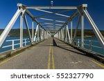 Small photo of The metallic road-bridge over the artificial lake of Kastraki, in Aetoloakarnania region, midland Greece. It is located a few kilometres away from the main city of Agrinio.