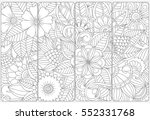 vector set of decorative... | Shutterstock .eps vector #552331768