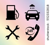 gas station service    icons set | Shutterstock .eps vector #552332818