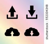 download and upload   vector... | Shutterstock .eps vector #552334348