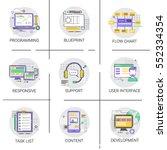 software application interface... | Shutterstock .eps vector #552334354