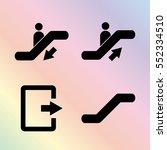 escalator   vector icon  set | Shutterstock .eps vector #552334510