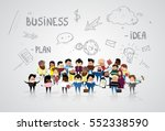 group of business people... | Shutterstock .eps vector #552338590
