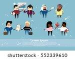 cartoon business people mix... | Shutterstock .eps vector #552339610