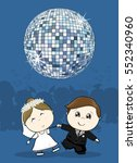 cute bride and groom first... | Shutterstock .eps vector #552340960