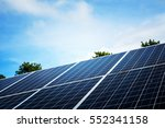 solar panel with blue sky   Shutterstock . vector #552341158