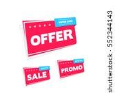 offer  sale   promo labels   Shutterstock .eps vector #552344143