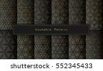 vector set of twelve golden... | Shutterstock .eps vector #552345433