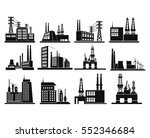 factory process silhouette set | Shutterstock .eps vector #552346684