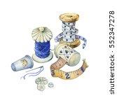 banner of various hand drawn... | Shutterstock . vector #552347278