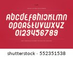 set of stylish alphabet letters ... | Shutterstock .eps vector #552351538