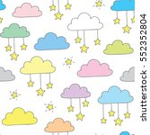 hand drawn sky pattern | Shutterstock .eps vector #552352804