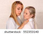 a pair of blonde same sex...   Shutterstock . vector #552353140