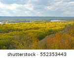 Sun and Shade on the Colors of Fall at Nelson Dewey State Park in Wisconsin