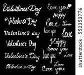 valentine's day lettering. set... | Shutterstock .eps vector #552353776