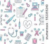 medical seamless pattern  ... | Shutterstock .eps vector #552355240