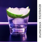 Small photo of an alcoholic or non-alcoholic cocktail. hands, bartender, bar, restaurant, mint, lime, lemon, alcoholic, non-alcoholic