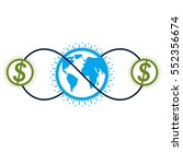 global business and e business... | Shutterstock .eps vector #552356674