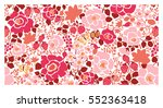 background of vegetation and... | Shutterstock .eps vector #552363418