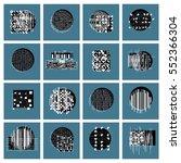 vector geometric compositions... | Shutterstock .eps vector #552366304