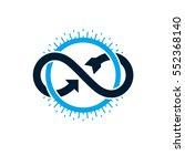 endless infinity loop... | Shutterstock .eps vector #552368140