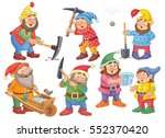 the snow white and seven dwarfs.... | Shutterstock . vector #552370420