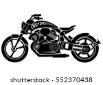 motorcycle silhouette | Shutterstock .eps vector #552370438