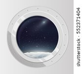 view from spaceship. flat... | Shutterstock .eps vector #552371404