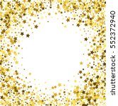 round gold frame or border of... | Shutterstock . vector #552372940