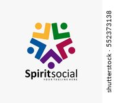 the best social logo icon full... | Shutterstock .eps vector #552373138