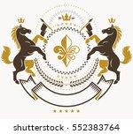 classy emblem  vector heraldic... | Shutterstock .eps vector #552383764