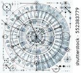 mechanical scheme  vector... | Shutterstock .eps vector #552383779