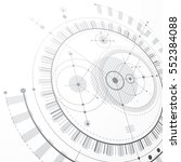 modular bauhaus 3d vector... | Shutterstock .eps vector #552384088