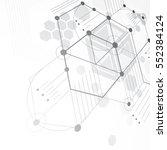 modular bauhaus 3d vector... | Shutterstock .eps vector #552384124