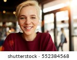 close up portrait of cheerful... | Shutterstock . vector #552384568