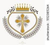 vintage heraldry design... | Shutterstock .eps vector #552385264