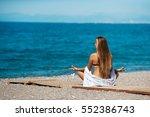 meditation yoga woman... | Shutterstock . vector #552386743