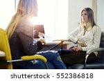 talented female administrator... | Shutterstock . vector #552386818